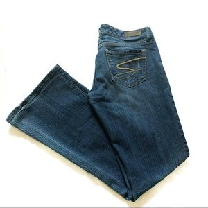 Seven7 flare leg medium wash jeans